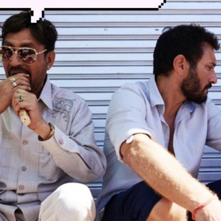 Irrfan shares what director Homi Adajania and he are up to on the sets of Angrezi Medium; See Pic
