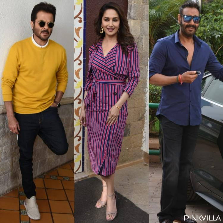 Total Dhamaal: Anil Kapoor, Madhuri Dixit and Ajay Devgn promote their film in style; check out the photos
