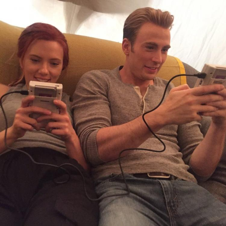 Avengers: Endgame star Chris Evans shares BTS pics of him playing games with Scarlett Johansson; Check it out