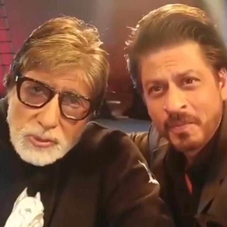 Badla star Amitabh Bachchan and co producer Shah Rukh Khan's super fun 'historic' video is a must watch