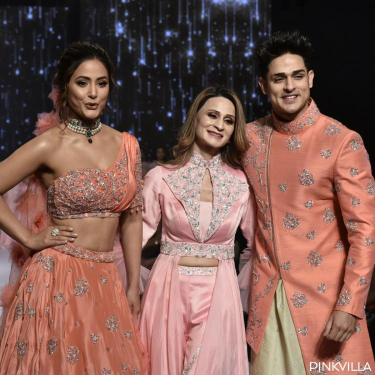 Bigg Boss 11's Hina Khan and Priyank Sharma look ethereal as they walk down the ramp; See Pics