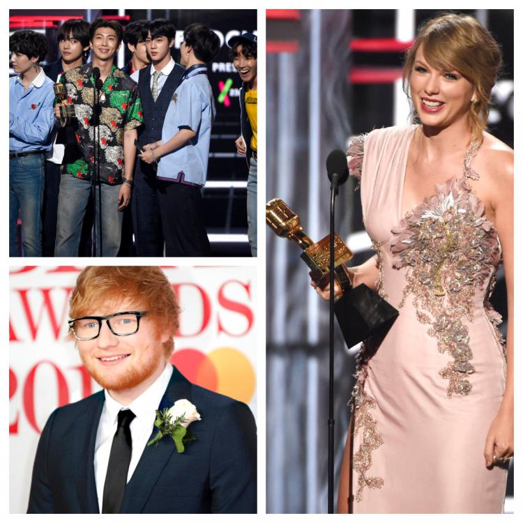 News,Ed Sheeran,taylor swift,BTS,Billboard Music Awards 2018