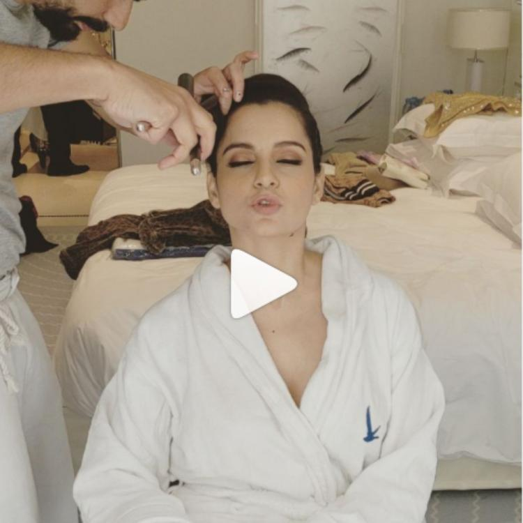 Cannes 2019: Kangana Ranaut's BTS video proves that it's all in the pout; check it out