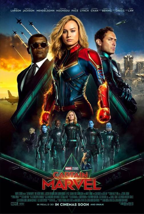 Captain Marvel International Poster: Brie Larson, Samuel L Jackson and Jude Law are arriving to end the war