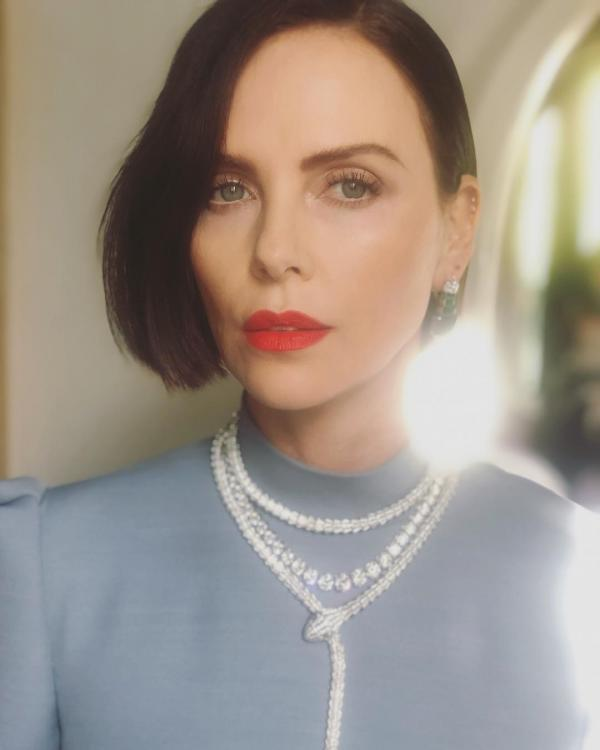 Charlize Theron's mother pushed her to be an actor