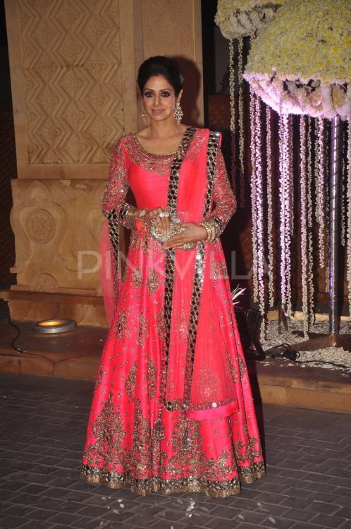 Sridevi And Juhi Chawla At Rriddhi Malhotra S Wedding