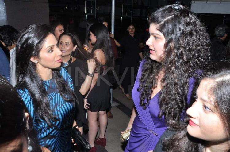 Sridevi Snapped With Anshula Kapoor At Koecsh Launch