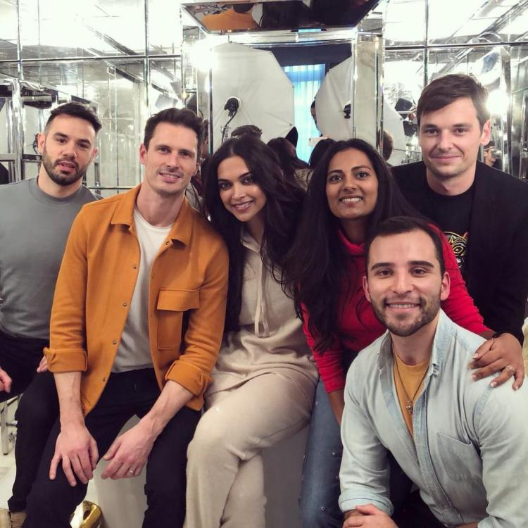 Deepika Padukone enjoys her time in Paris to the fullest; poses for photos with her team