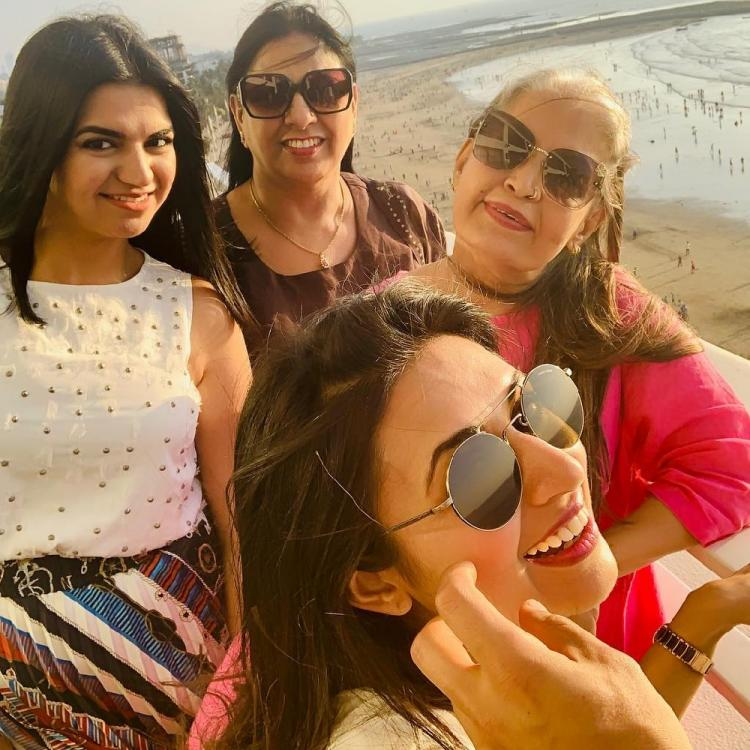 Divyanka Tripathi Dahiya is a happy soul with her family in these throwback photos from her seaside brunch