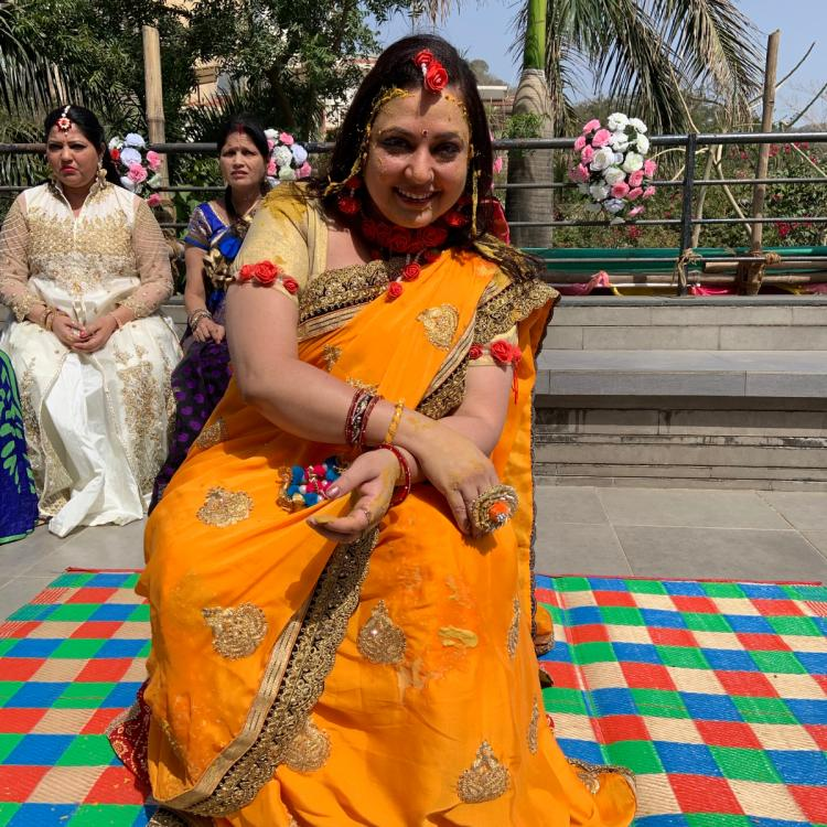 Diya Aur Baati Hum fame Surbhi Tiwari's Haldi ceremony pics are all about beauty and fun; see pics