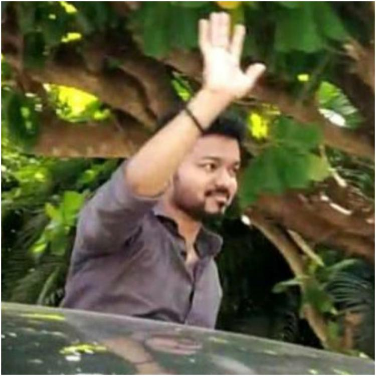 Viral Video: Thalapathy Vijay fans follow his running car; the actor requests them to stop and go back