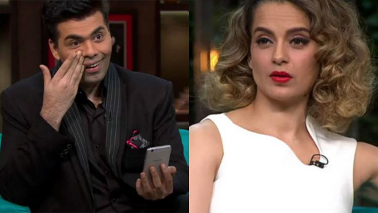 Image result for Kangana Ranaut and Karan Johar