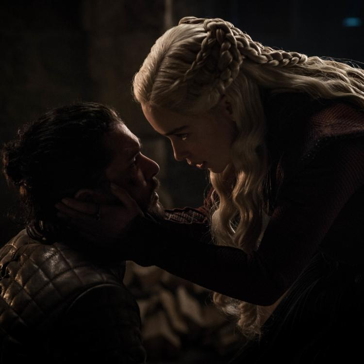 Emilia Clarke candidly spoke about Kit Harington's initial reaction to the shocking Daenerys Targaryen and Jon Snow moment in the last Game of Thrones episode.