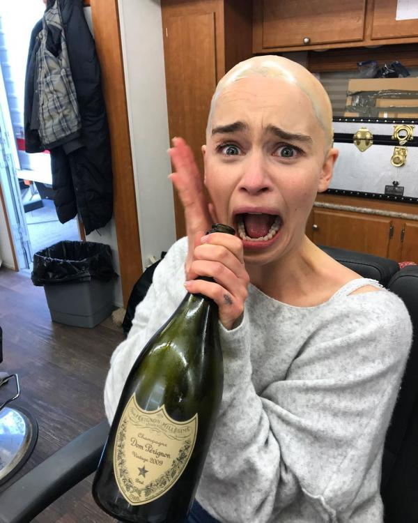 Emilia Clarke had her 'wig' snatched after shooting for Game of Thrones Season 8 Episode 5.