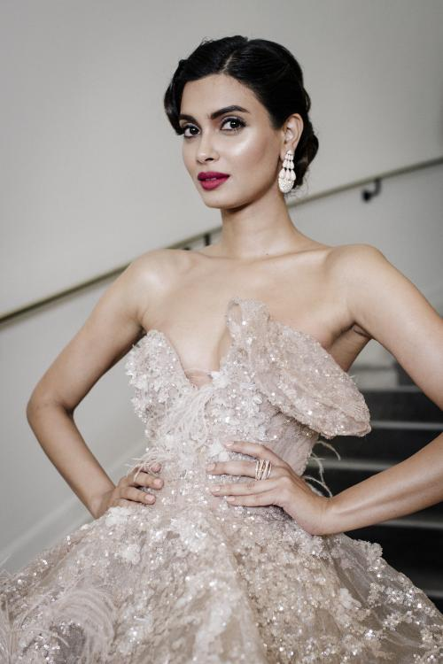 Diana Penty revealed that her Cannes outfit choices were made close to the event and she opted what felt right on the day.