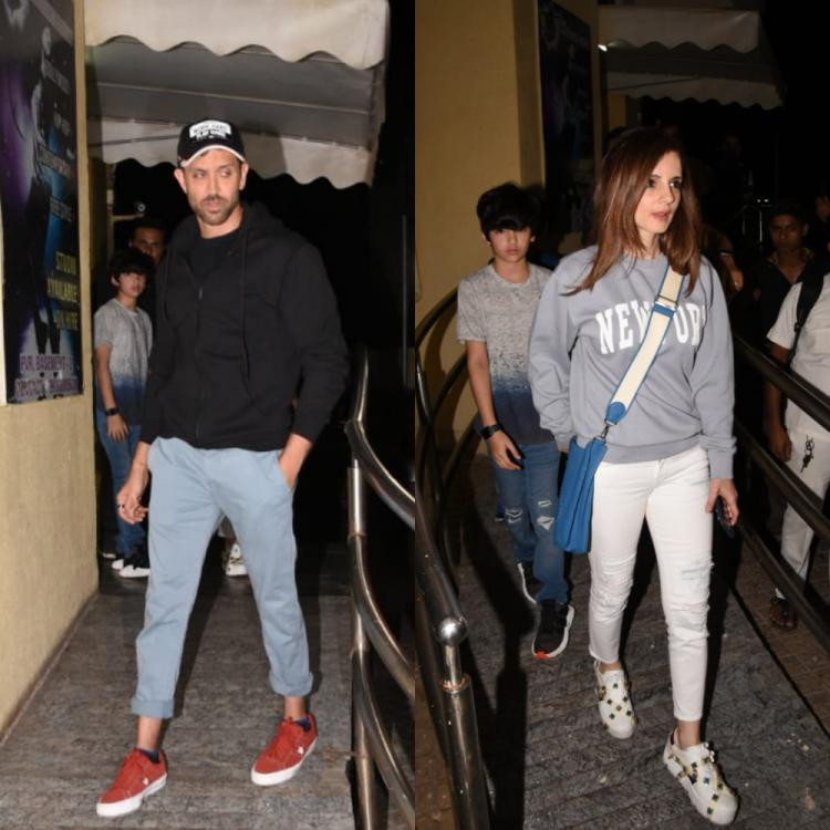 PHOTOS: Hrithik Roshan and ex wife Sussanne Khan enjoy a movie night with kids Hrehaan and Hridhaan
