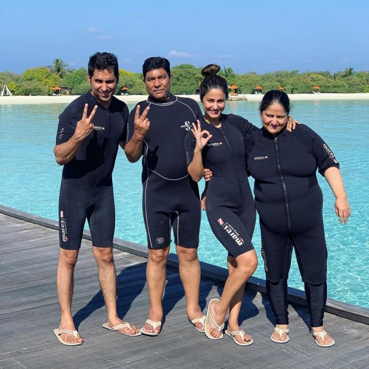Kasautii Zindagii Kay's Hina Khan enjoys deep sea diving with her family on her recent Maldives trip; WATCH