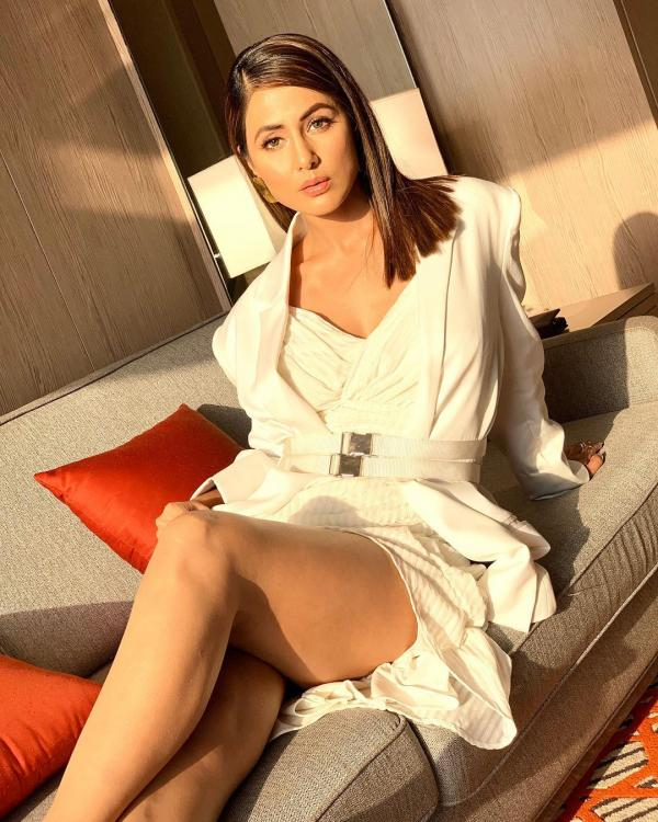 Hina Khan stuns in an all-white attire and we totally love it