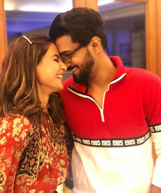 Hina Khan urges beau Rocky Jaiswal to 'come back soon' in the most adorable way; WATCH