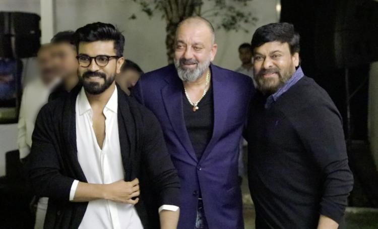 Sanjay Dutt gives Jadoo ki Jhappi to Ram Charan, Chiranjeevi and you can't miss these EPIC photos