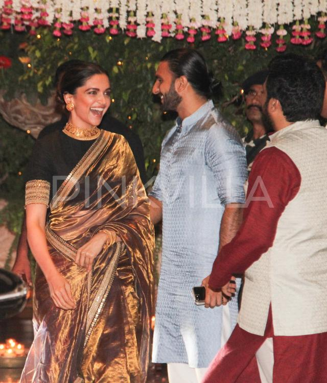Photos: Deepika-Ranveer arrive at the Ambani bash together ...