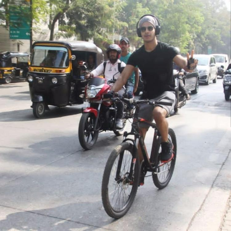 Ishaan Khatter trolled for using headphones while riding a bike; the actor's response is unmissable