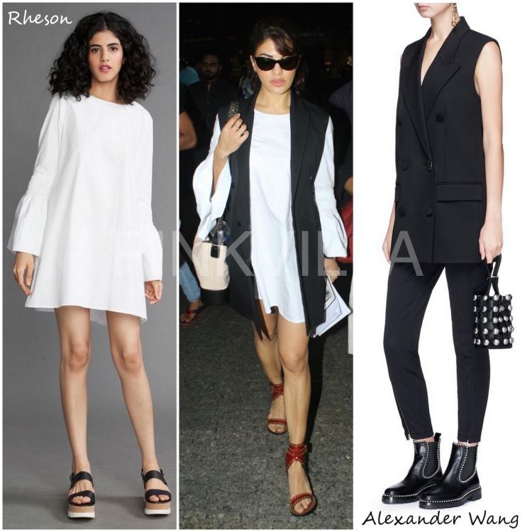 Celebrity Style,Chanel,alexander wang,Jacqueline Fernandez,airport,Isabel Marant,Narola C Jamir,Rheson,Airport Fashion