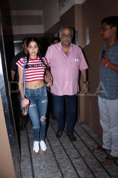 Janhvi Kapoor's 'gym' conversation with dad Boney Kapoor is a proof they are the coolest