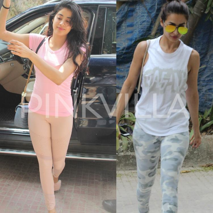 Today, Janhvi Kapoor and Malaika Arora were snapped outside the gym in Mumbai