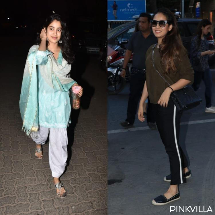Photos: Janhvi Kapoor opts for a breezy salwar kameez; Mira Rajput keeps it chic and stylish