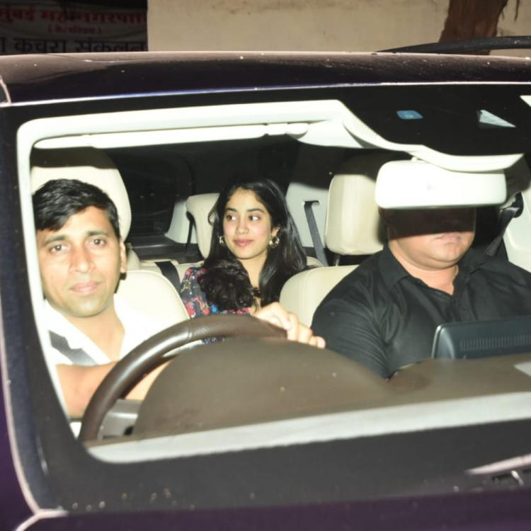 Photos: Janhvi Kapoor is all smiles as she arrives at the screening of Kalank