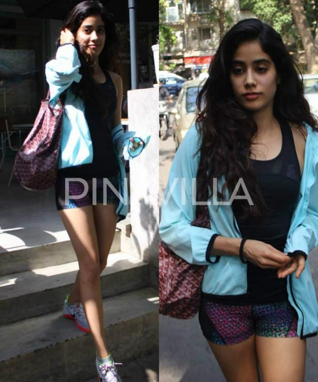 in pics sridevi s daughter jhanvi kapoor snapped post a