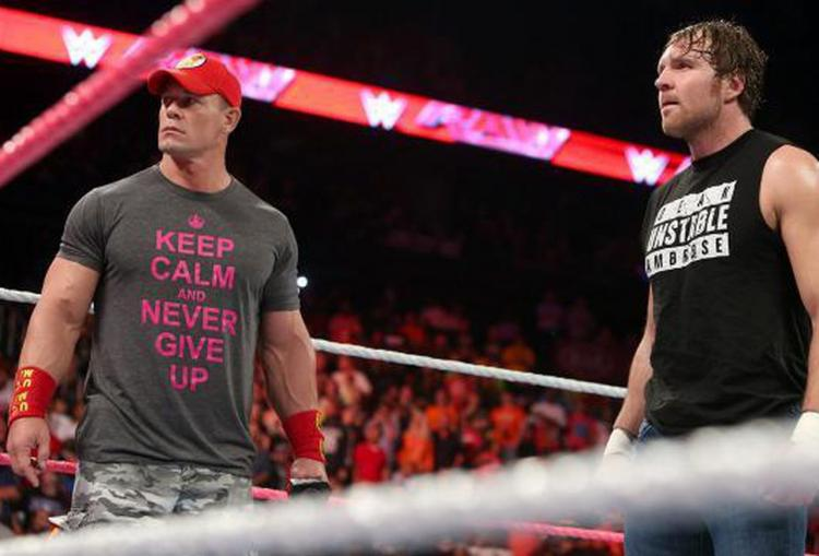 ohn Cena shared a cryptic post on Instagram as an official nod to Dean Ambrose.