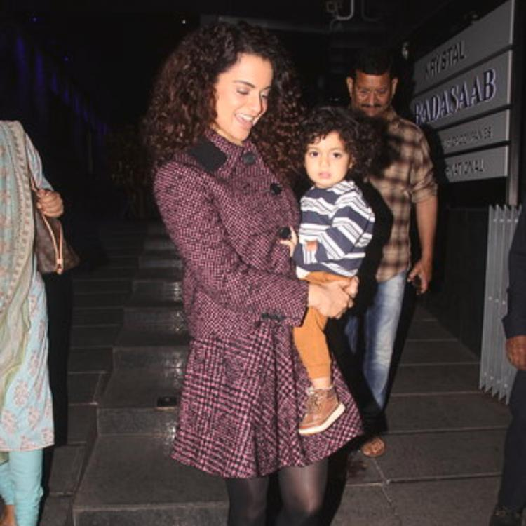 PHOTOS: Kangana Ranaut spends some quality time with her family as she steps out for a dinner in the city
