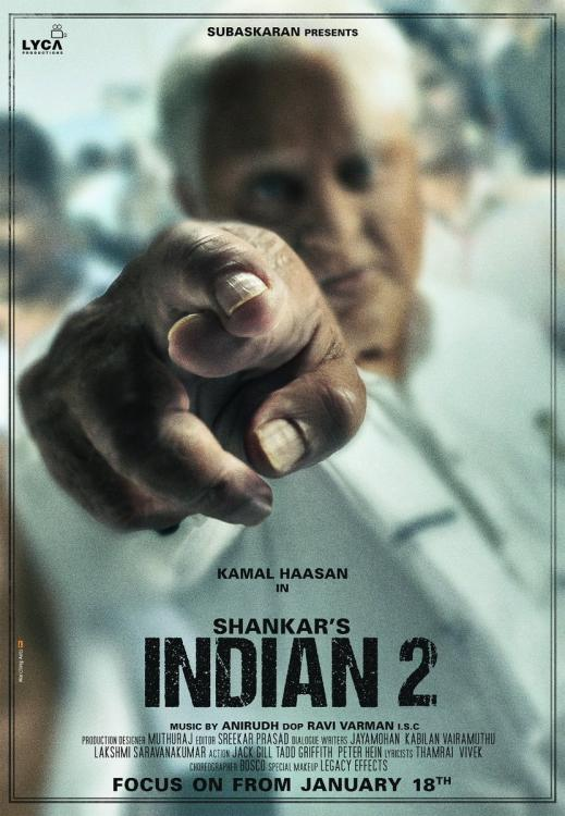 Indian 2 first look: Kamal Haasan is set to be back with a bang; Shankar shares the first look