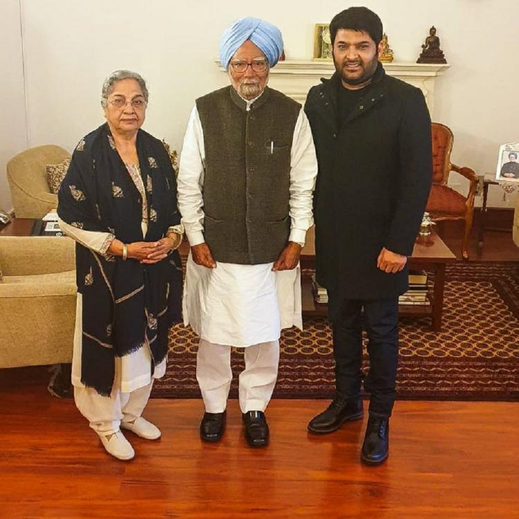 Kapil Sharma meets the Former Prime Minister of India, Dr Manmohan Singh and his wife Gursharan Kaur; see pics