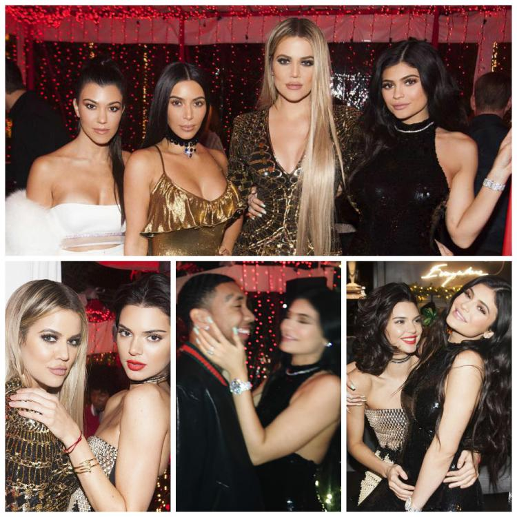 Kim, Khloe, Kourtney, Kendall and Kylie raise the roof at their ...