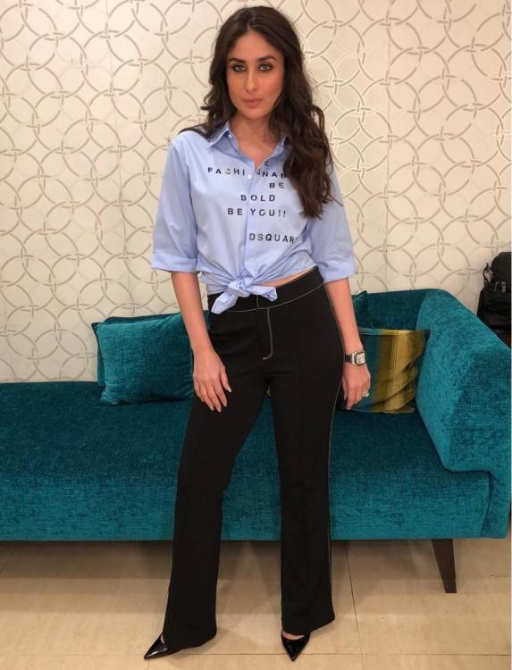 Photos: Kareena Kapoor Khan's shirt has an inspiring message which is truly unmissable
