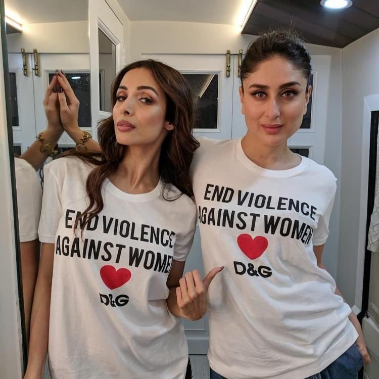 Kareena Kapoor Khan and Malaika Arora twin in white tees and convey a strong message