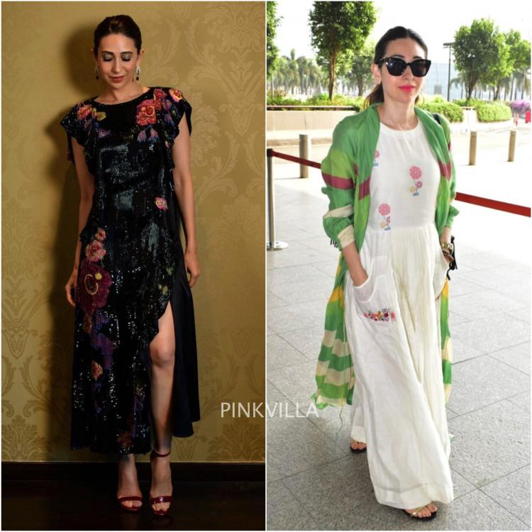 Karisma Kapoor in Prabal Gurung and Tahweave