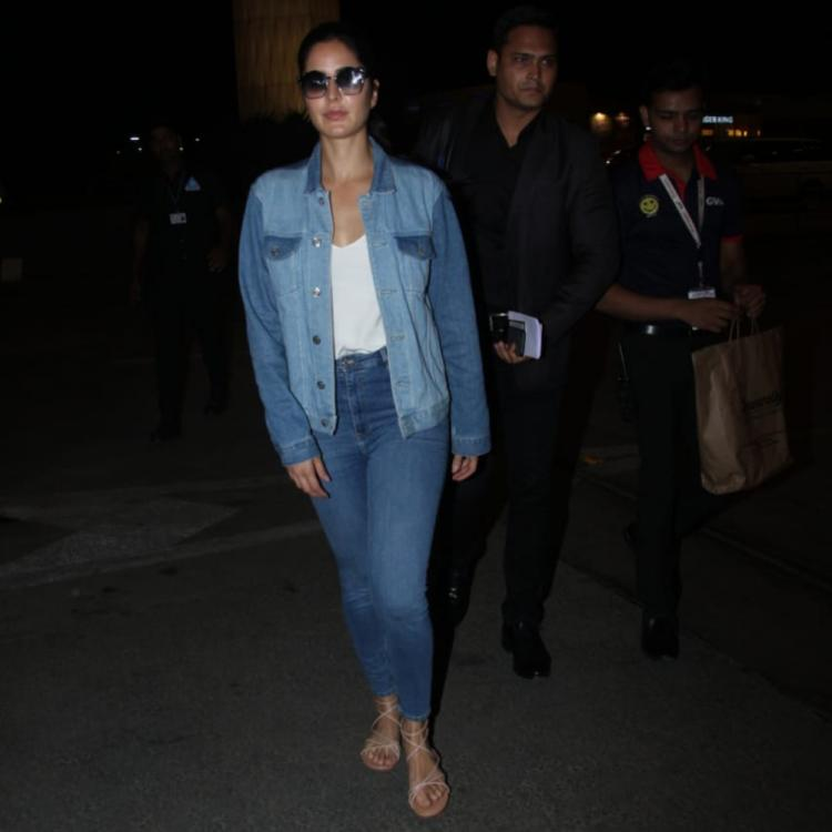 Airport diaries: Katrina Kaif slays it in a double denim outfit; View pics