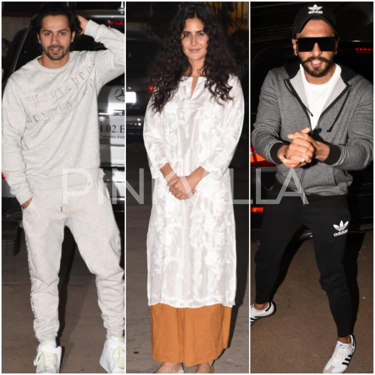 Photos: Katrina Kaif, Ranveer Singh and Varun Dhawan attend Uri's special screening hosted by Vicky Kaushal