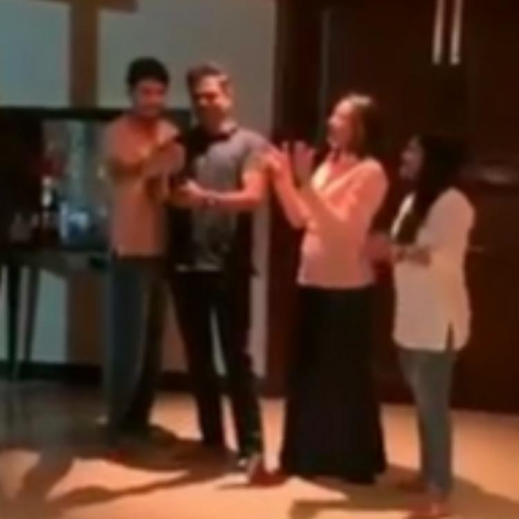 VIDEO: Mahesh Babu & Vamshi Paidipally pop up champagne as they celebrate success of Maharshi