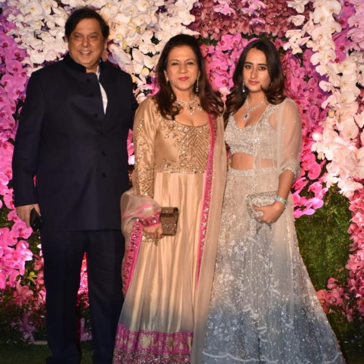 PHOTOS: Varun Dhawan's parents arrive at Shloka & Akash Ambani's reception with his girlfriend Natasha Dalal