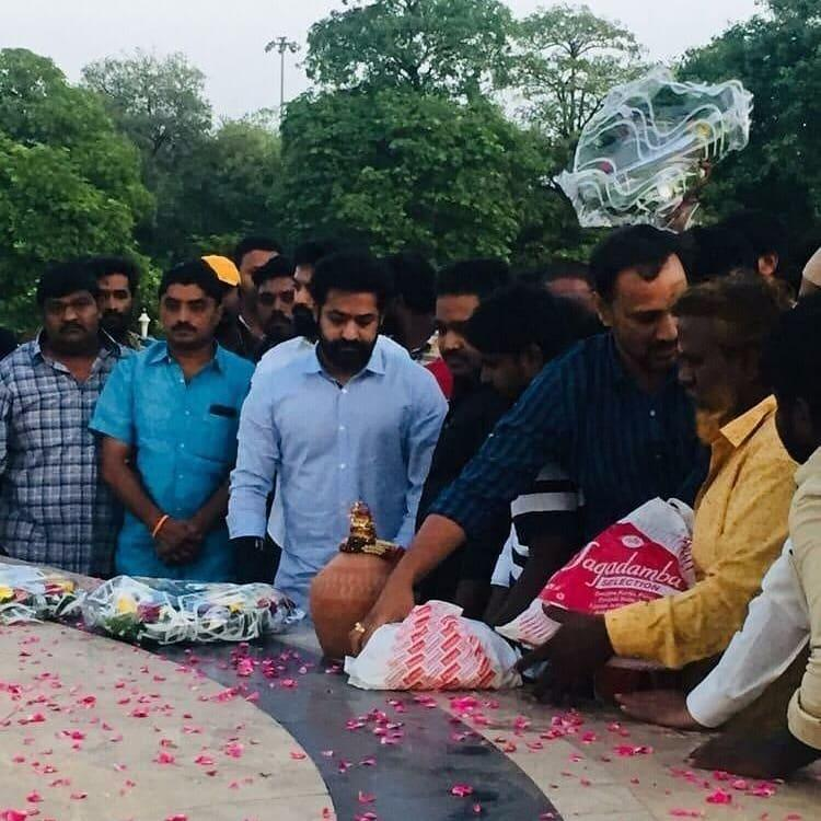 NTR Birth Anniversary: Jr NTR gets emotional as he pays tribute to his legend grandfather