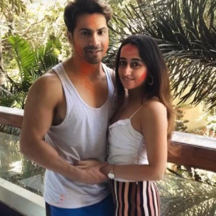 Varun Dhawan and Natasha Dalal's colour smeared faces are proof that their Holi was filled with love; see pic