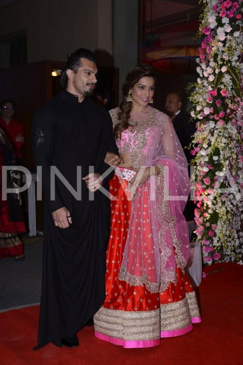 Bipasha Karan Singh Grover And Rekha Attend Neil Rukminis Wedding
