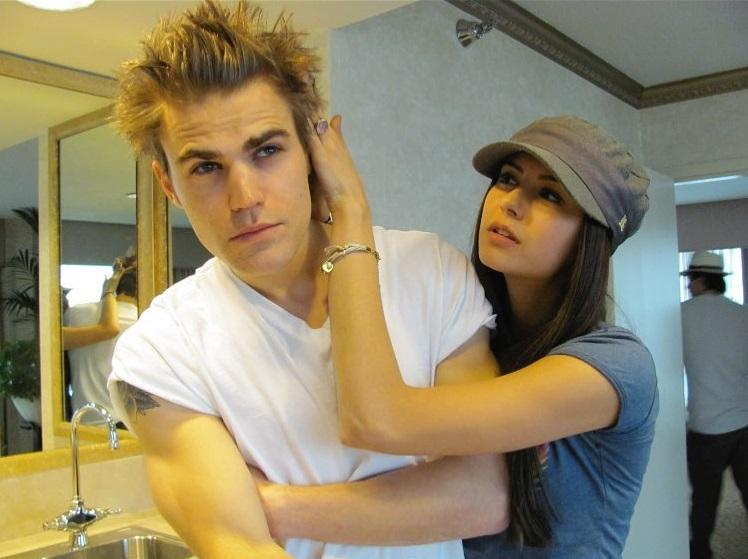 Nina Dobrev and Paul Wesley played Elena Gilbert and Stefan Salvatore in The Vampire Diaries.
