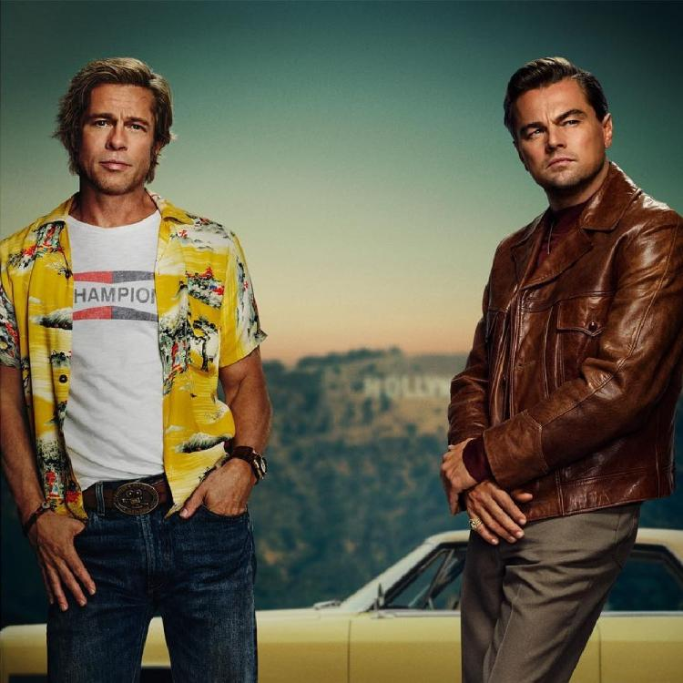 Brad Pitt and Leonardo DiCaprio play actor Rick Dalton and stunt double Cliff Booth in Quentin Tarantino's Once Upon A Time In Hollywood.