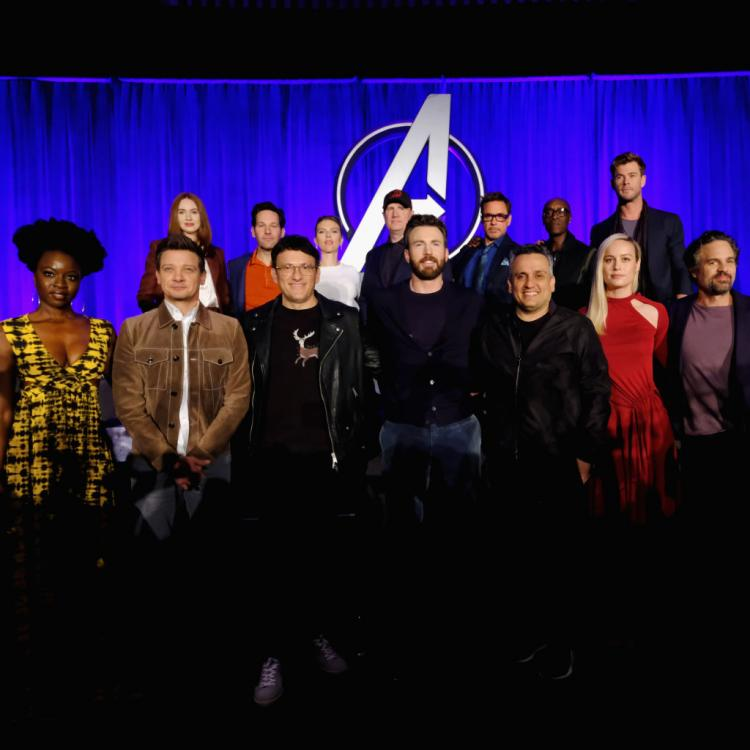PHOTOS: Avengers: Endgame stars Robert Downey Jr, Chris Evans and more have fun at the LA Press Conference.